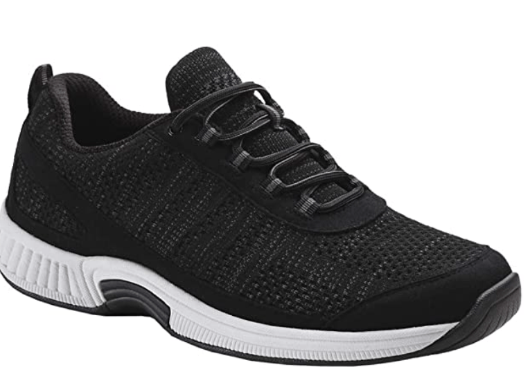 Orthofeet Men's Proven Sneakers Lava - Best Walking Shoes for Heavy Person