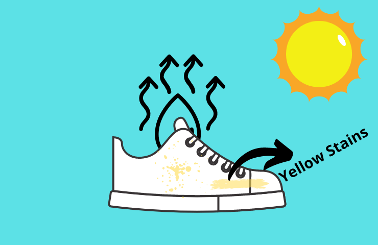 how to whiten yellowing shoes