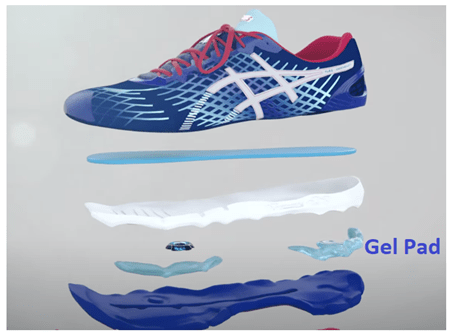 gel pad technology asics for sciatica pain
