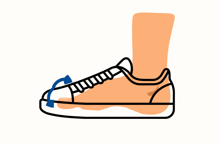 shoes with deep toe box to prevent shoes holes on top