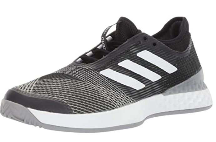 Adidas mens Adizero Ubersonic 3 – Breathable Tennis Shoes with Wide Toe Box for Bunions