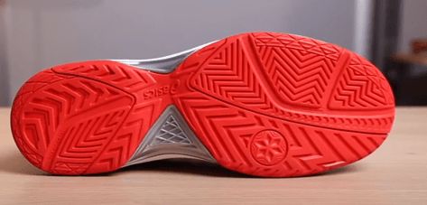 outsole of asics tennis shoes