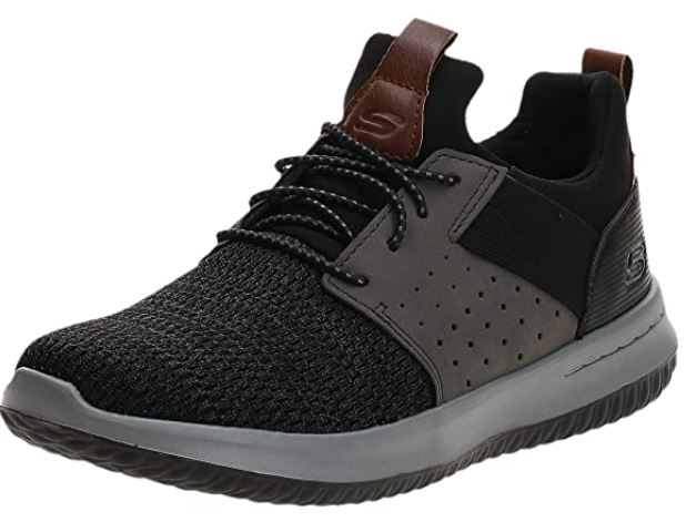 Skechers Men's Classic-Fit Delson – Comfortable Shoes for Moonwalking