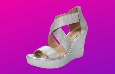 crisscross platforms with wide straps
