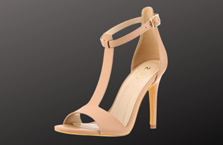 Heels with T-straps