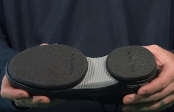 grip pods of curling shoes