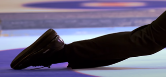 slip-on gripper of curling shoes