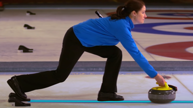 curling shoes working