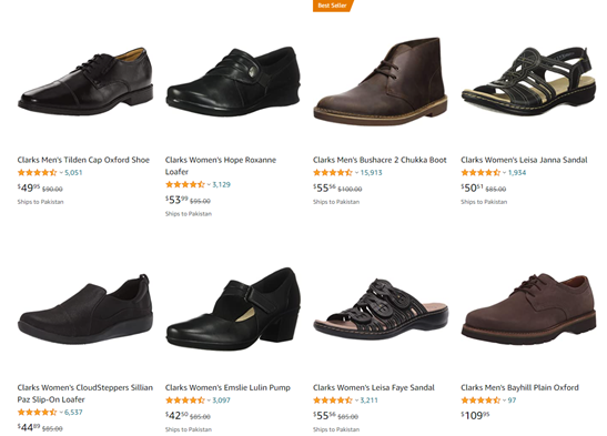 clarks shoes discount on amazon