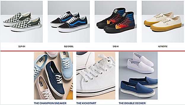 style of vans and keds shoes