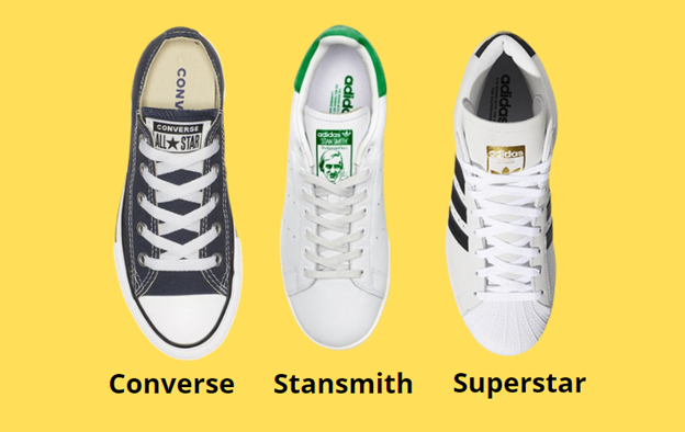 converse vs adidas style and design