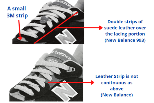 new balance 992 and 993 construction difference