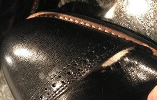 leather of stacy adams shoes peels off too early