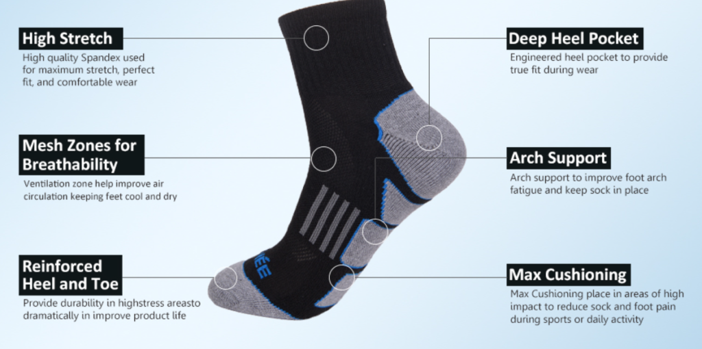 socks features to prevent slipping