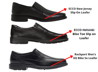 outsole comparison of ecco and rockport loafers
