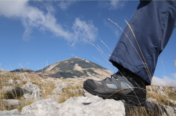 hiking boots are made for ankle support and for muddy trails